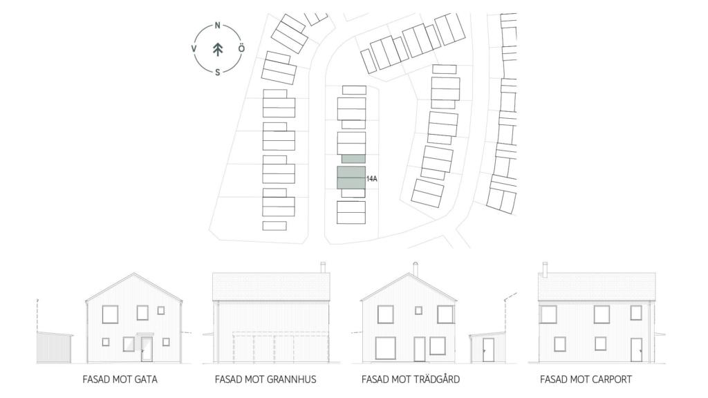 Kedjehus med öppen planlösning i Varberg